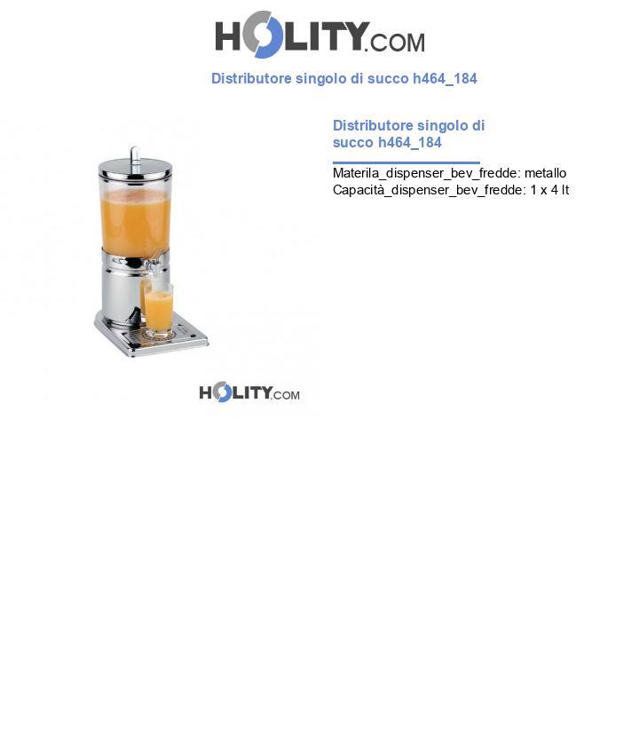 Distributore singolo di succo h464_184