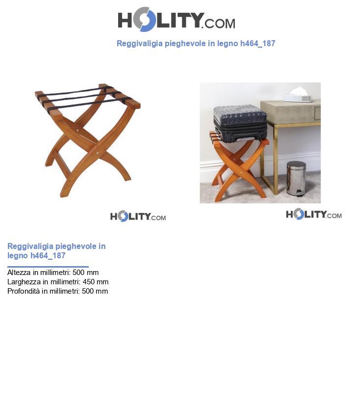 Reggivaligia pieghevole in legno h464_187