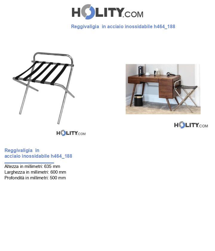 Reggivaligia  in acciaio inossidabile h464_188