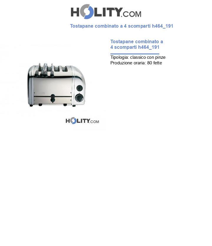 Tostapane combinato a 4 scomparti h464_191