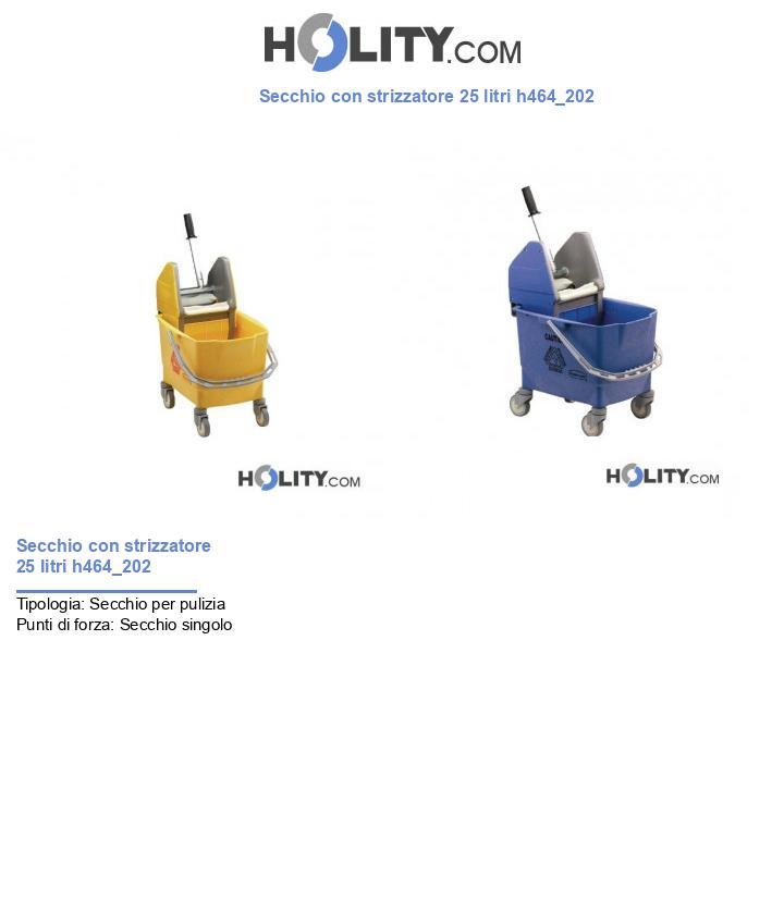 Secchio con strizzatore 25 litri h464_202