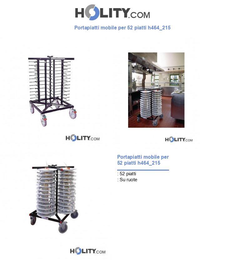 Portapiatti mobile per 52 piatti h464_215