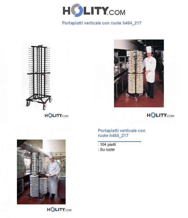 Portapiatti verticale con ruote h464_217