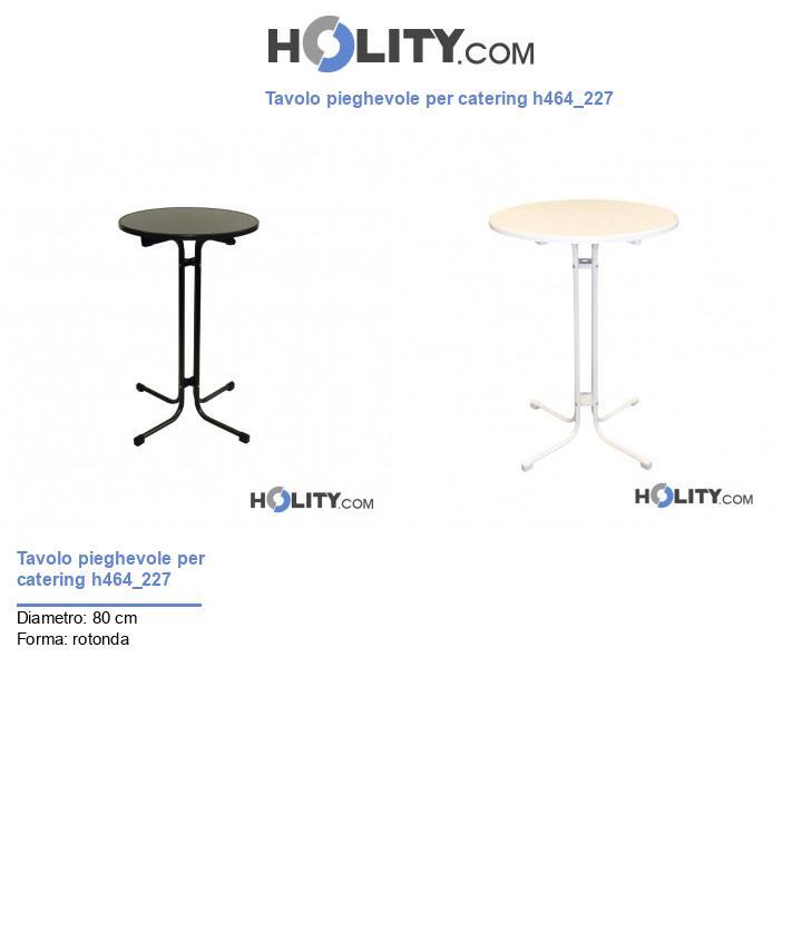 Tavolo pieghevole per catering h464_227