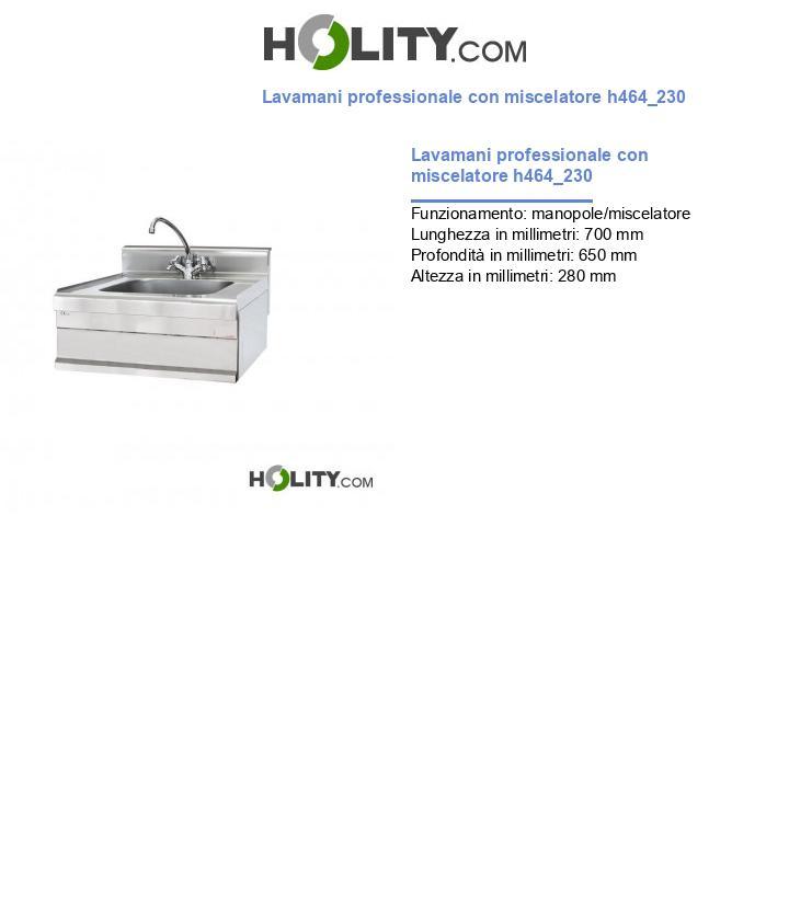 Lavamani professionale con miscelatore h464_230