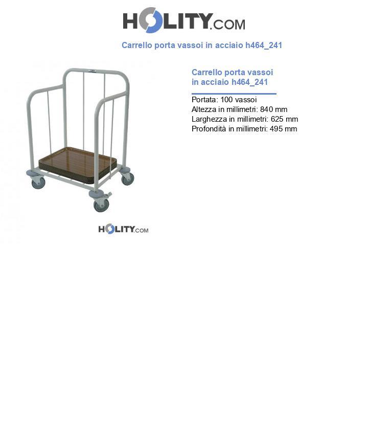 Carrello porta vassoi in acciaio h464_241