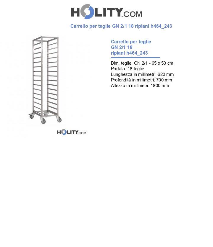 Carrello per teglie GN 2/1 18 ripiani h464_243