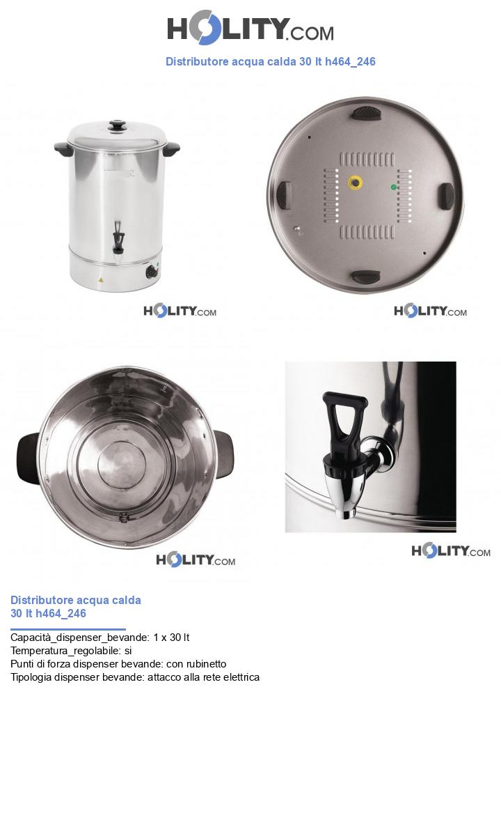 Distributore acqua calda 30 lt h464_246