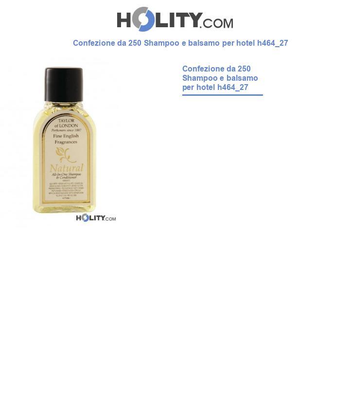 Shampoo e balsamo per linea cortesia hotel h464_27