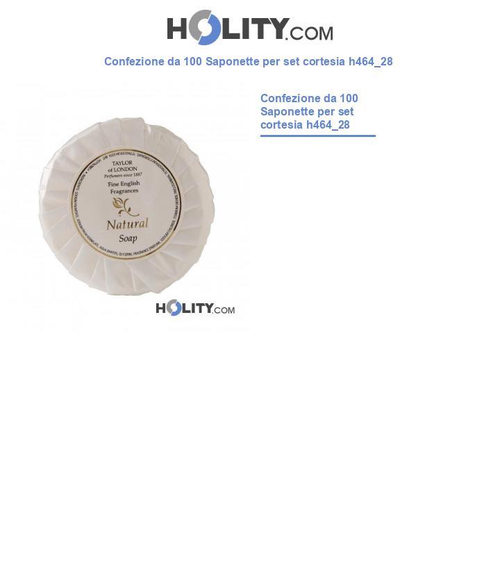 Saponetta 25 gr per set cortesia h464_28