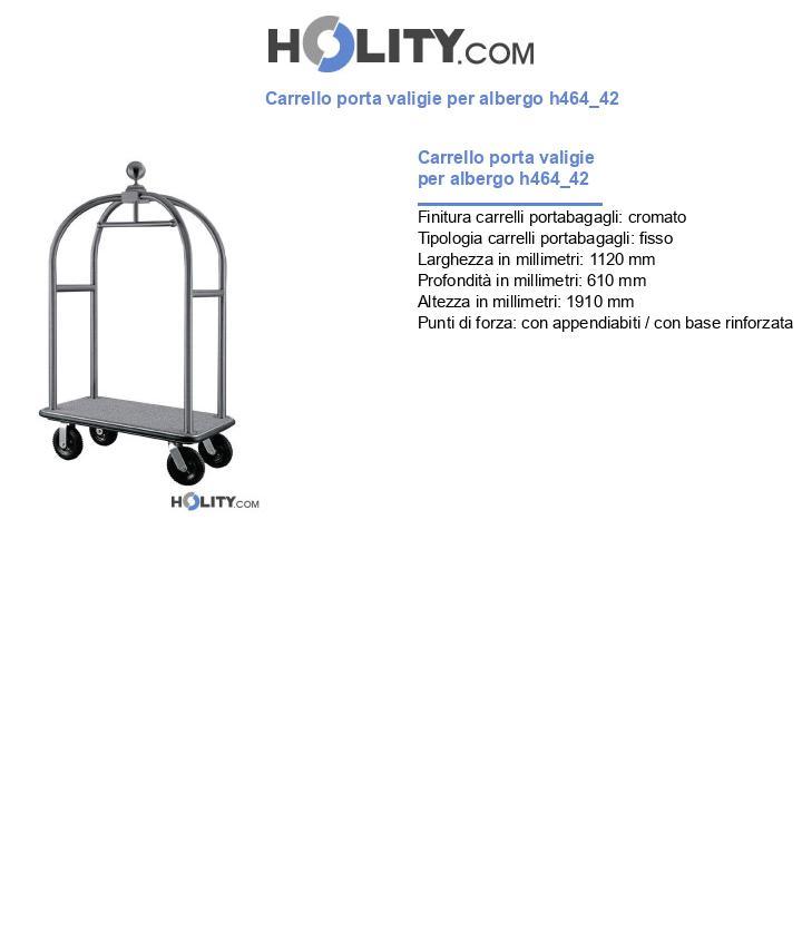 Carrello porta valigie per albergo h464_42
