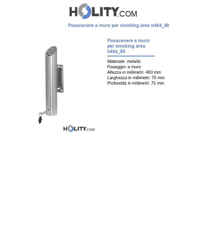 Posacenere a muro per smoking area h464_90