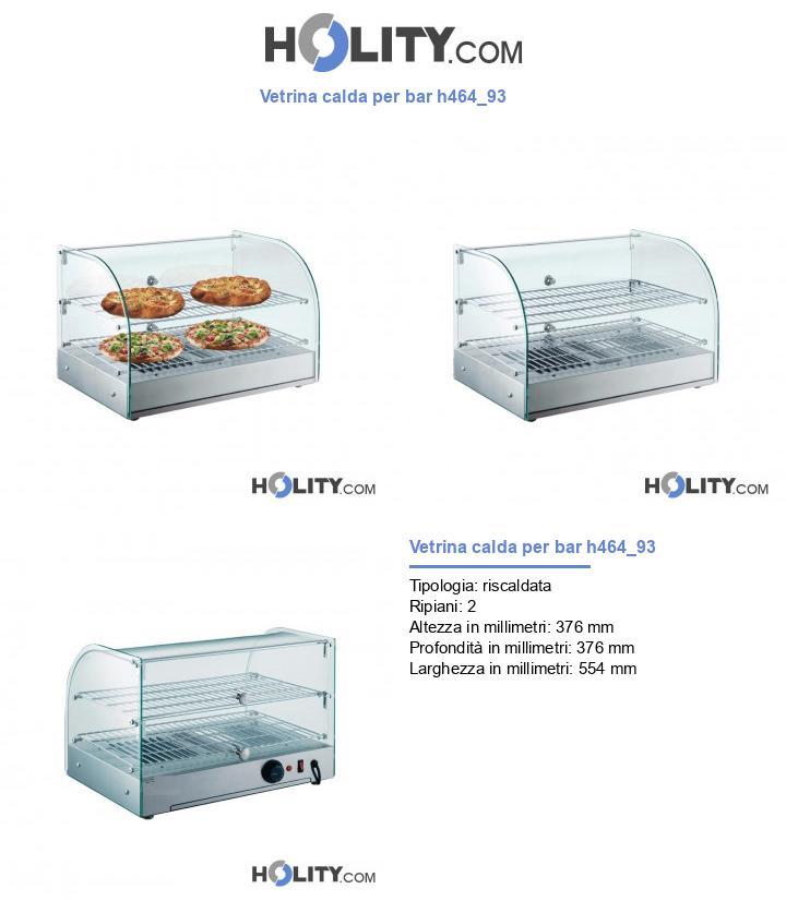 Vetrina calda per bar h464_93