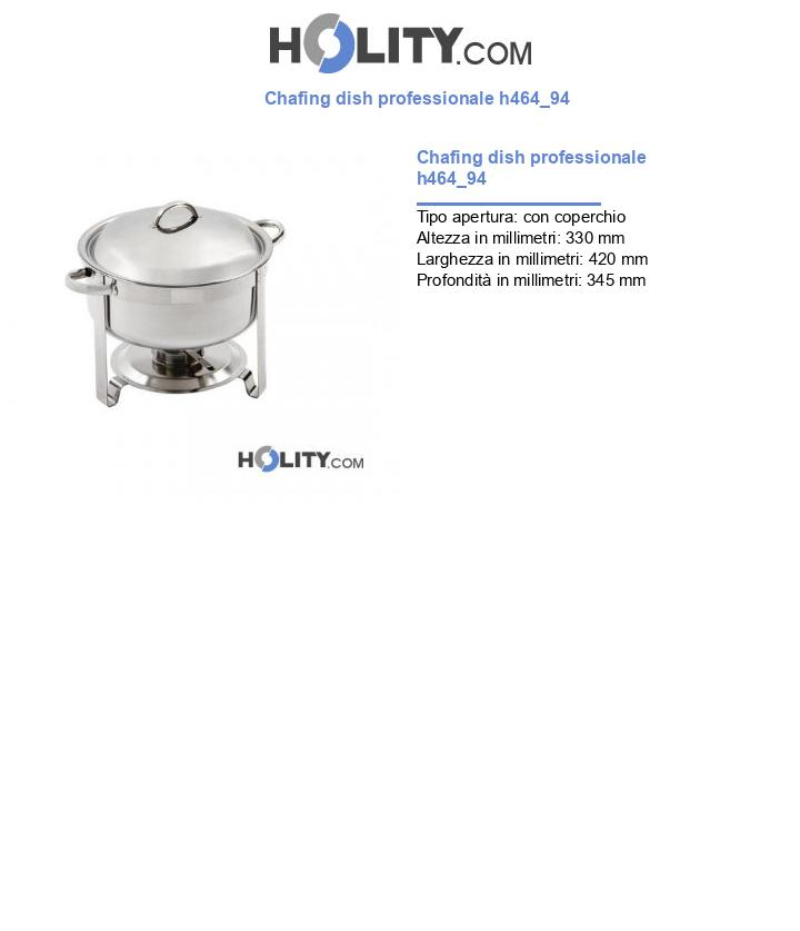 Chafing dish professionale h464_94