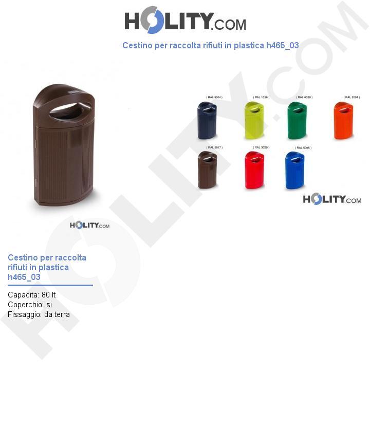 Cestino in plastica per raccolta rifiuti h465_03