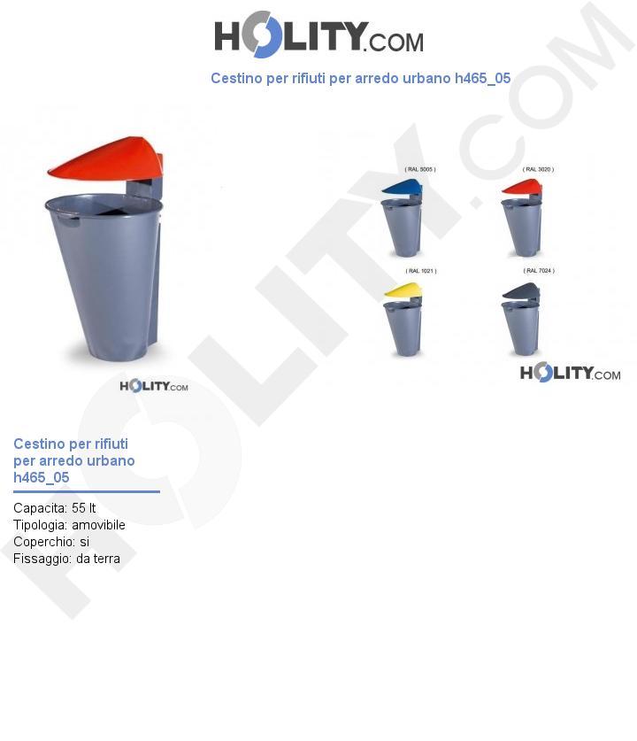 Cestino per rifiuti per arredo urbano h465_05