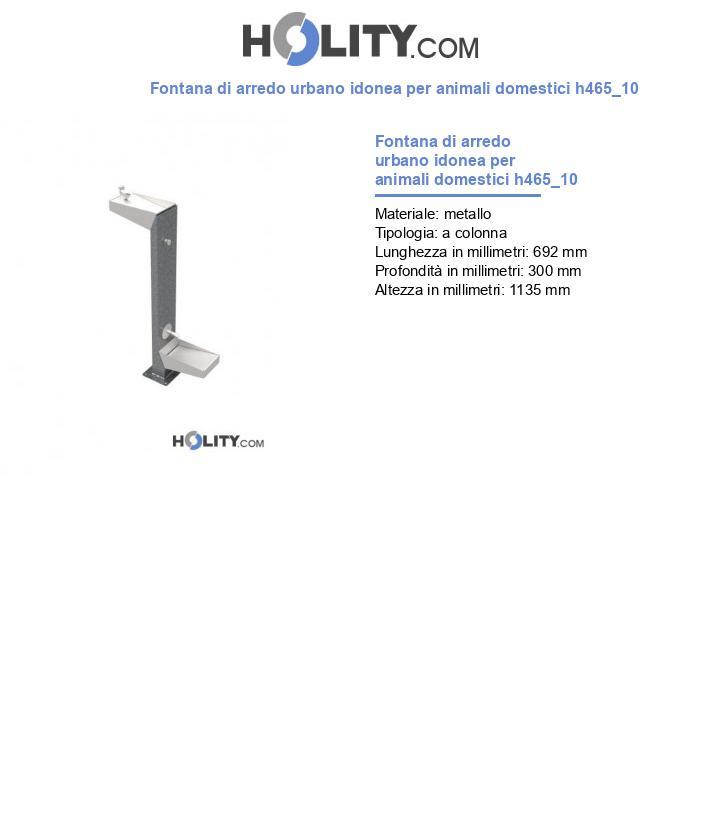 Fontana di arredo urbano idonea per animali domestici h465_10