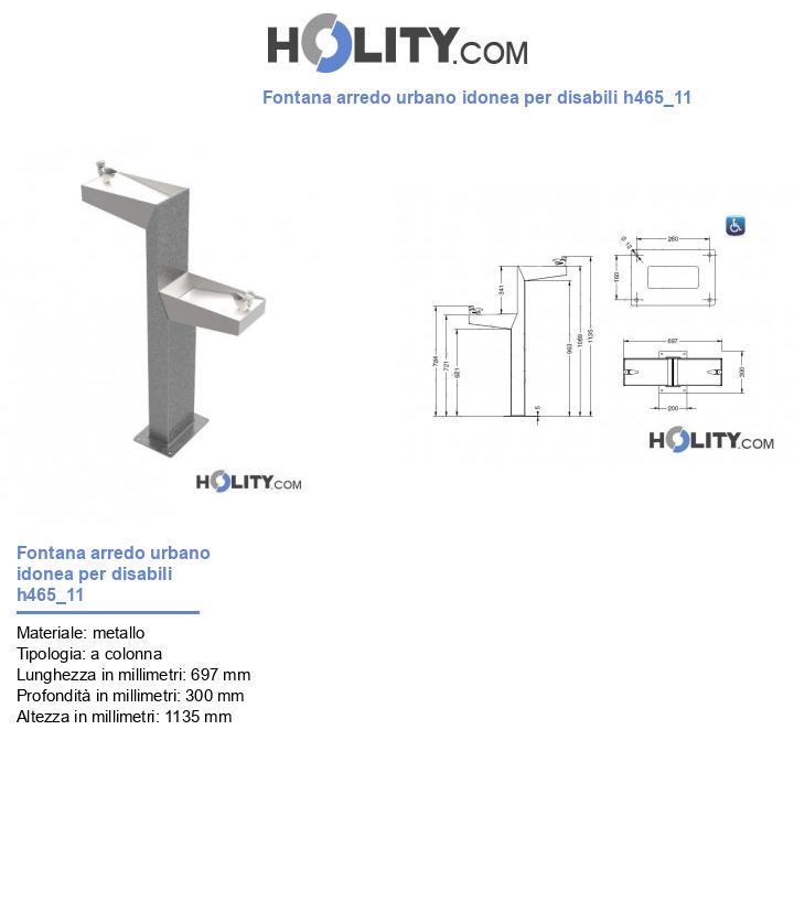 Fontana arredo urbano idonea per disabili h465_11