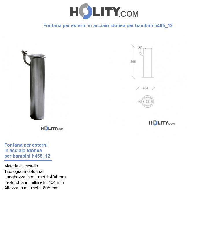Fontana per esterni in acciaio idonea per bambini h465_12