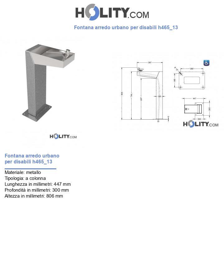 Fontana arredo urbano per disabili h465_13