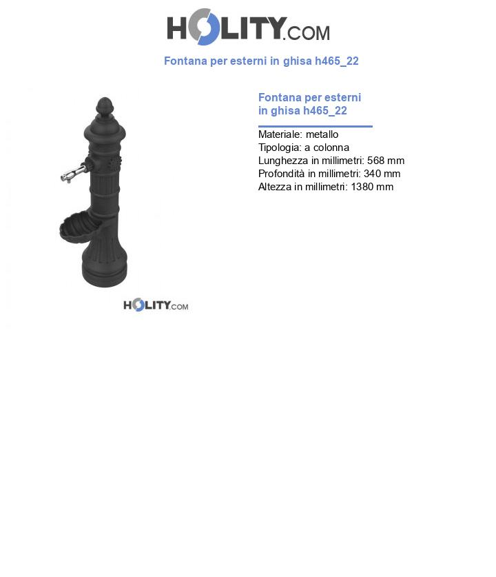 Fontana per esterni in ghisa h465_22
