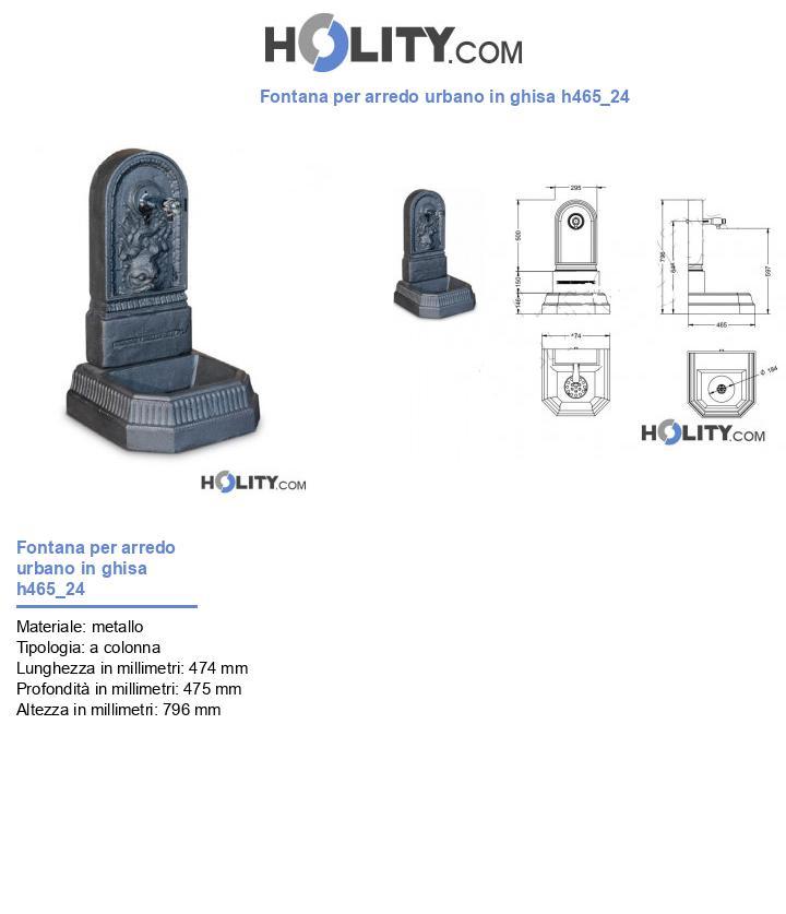 Fontana per arredo urbano in ghisa h465_24