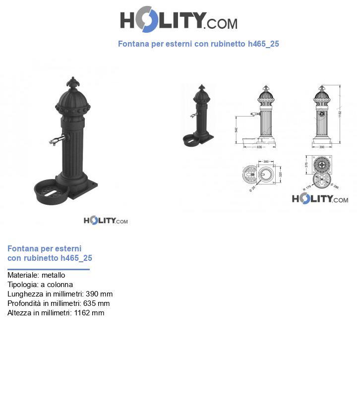 Fontana per esterni con rubinetto h465_25