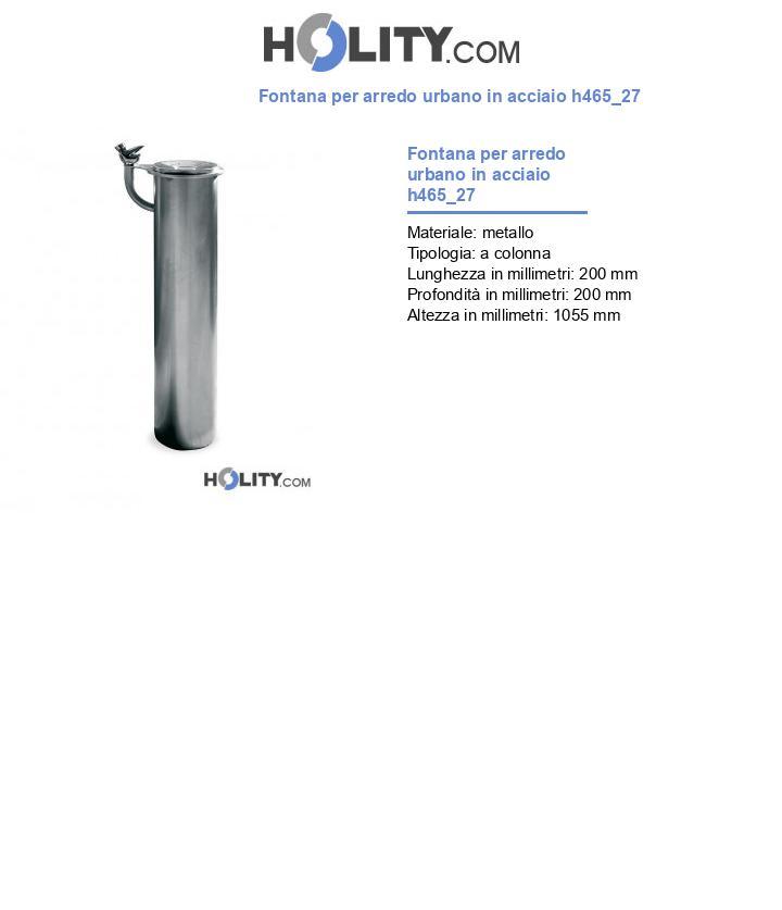 Fontana per arredo urbano in acciaio h465_27