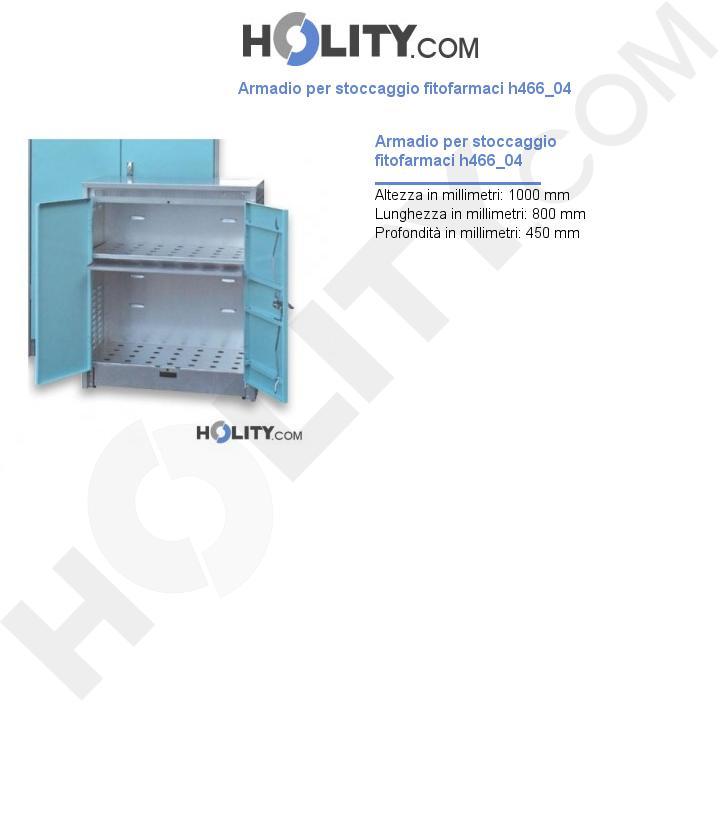 Armadio per stoccaggio fitofarmaci h466_04