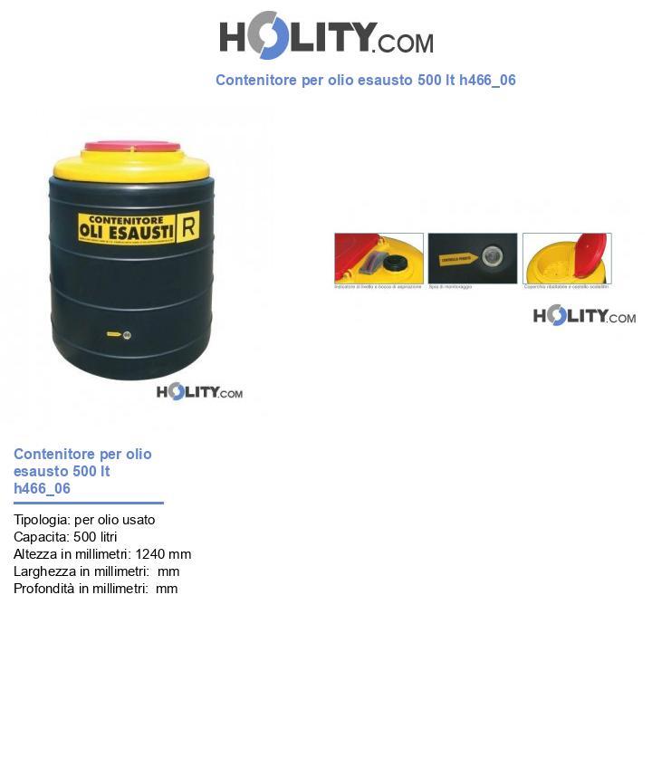 Contenitore per olio esausto 500 lt h466_06