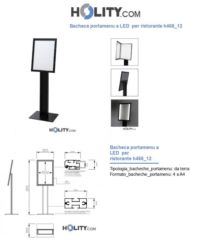 Bacheca portamenu a LED  per ristorante h468_12