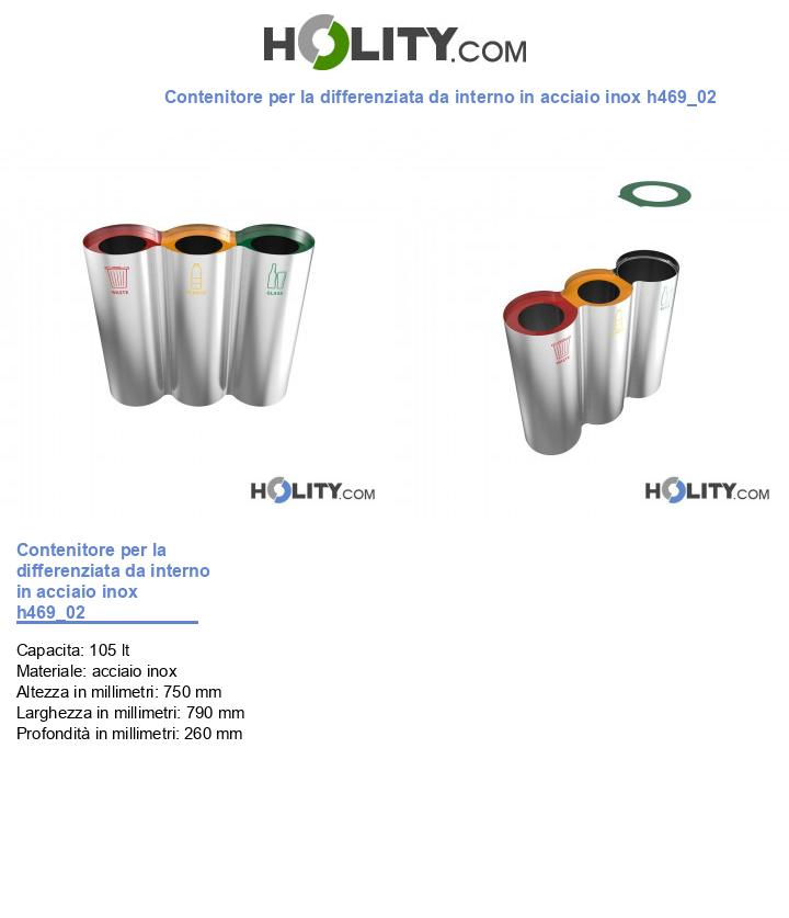 Contenitore per la differenziata da interno in acciaio inox h469_02