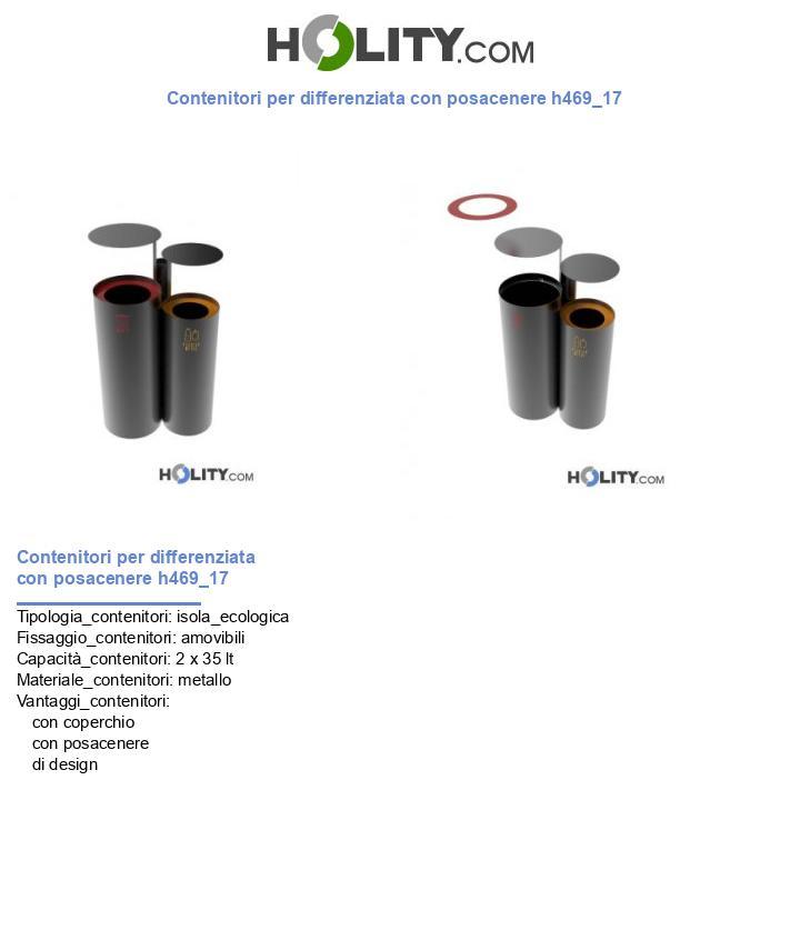 Contenitori per differenziata con posacenere h469_17