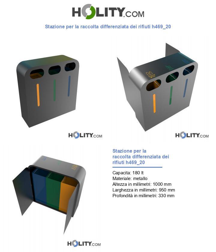Stazione per la raccolta differenziata dei rifiuti h469_20