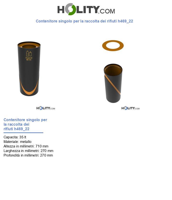 Contenitore singolo per la raccolta dei rifiuti h469_22