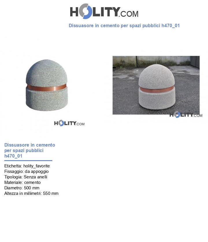 Dissuasore in cemento per spazi pubblici h470_01