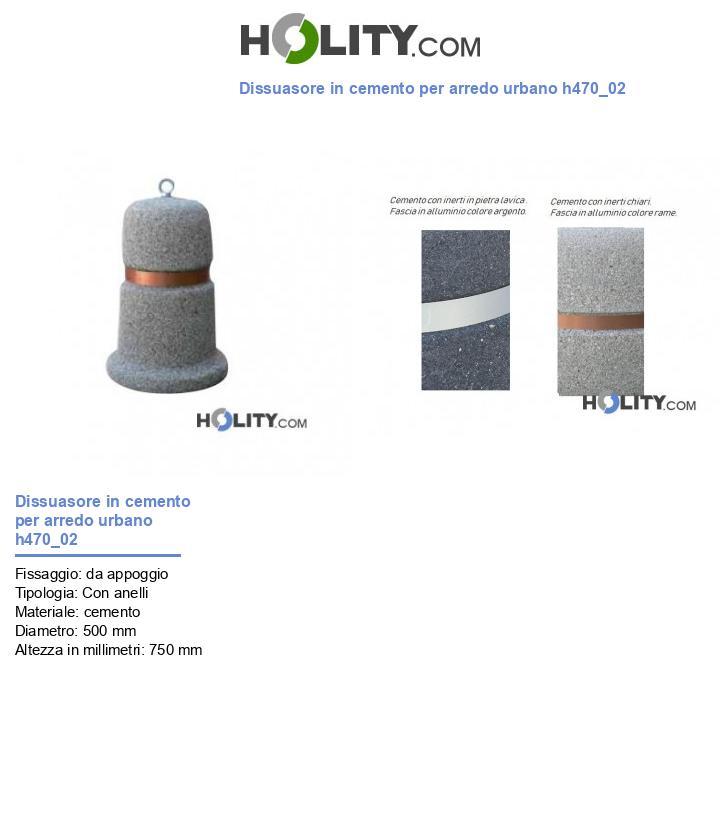 Dissuasore in cemento per arredo urbano h470_02