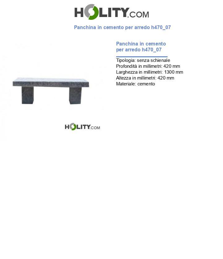 Panchina in cemento per arredo h470_07