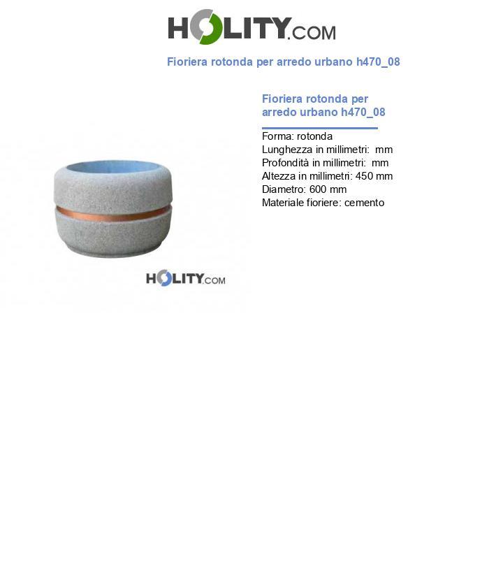 Fioriera rotonda per arredo urbano h470_08