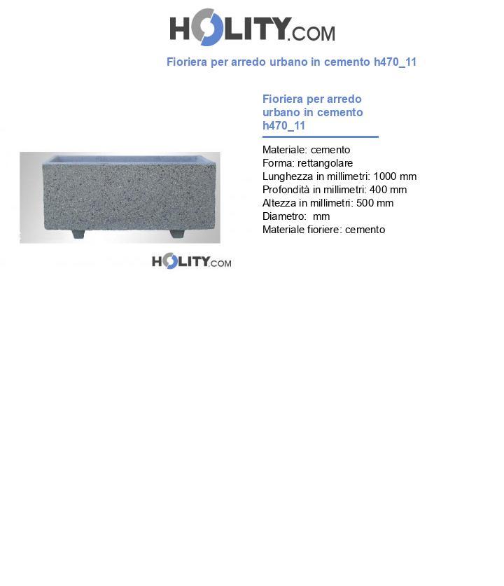 Fioriera per arredo urbano in cemento h470_11