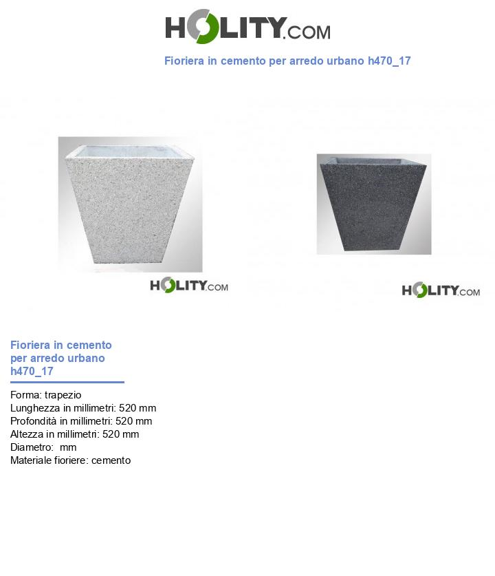 Fioriera in cemento per arredo urbano h470_17