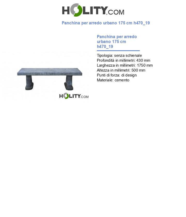 Panchina per arredo urbano 175 cm h470_19