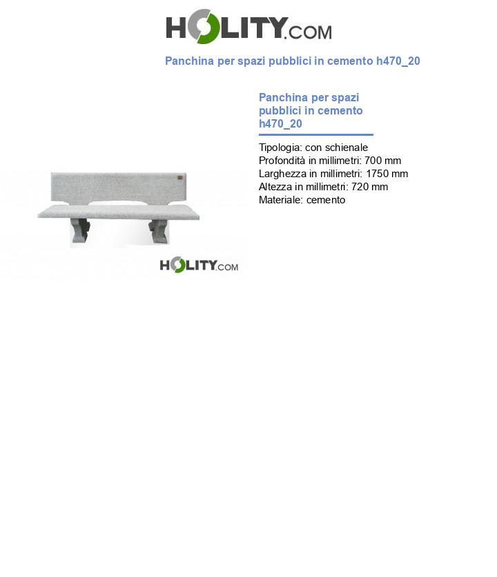 Panchina per spazi pubblici in cemento h470_20