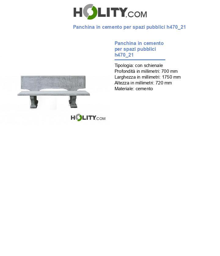 Panchina in cemento per spazi pubblici h470_21