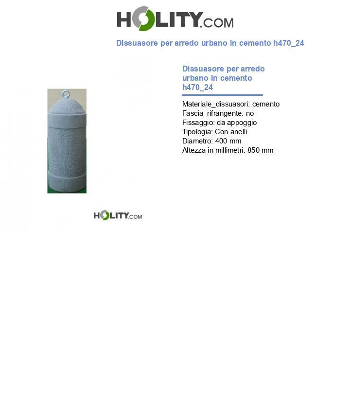 Dissuasore per arredo urbano in cemento h470_24