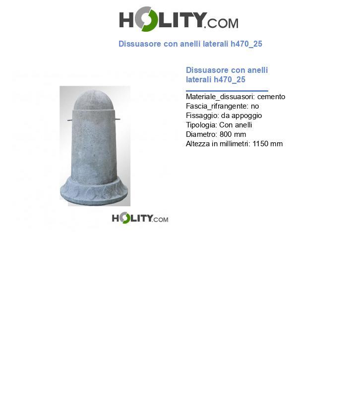 Dissuasore con anelli laterali h470_25