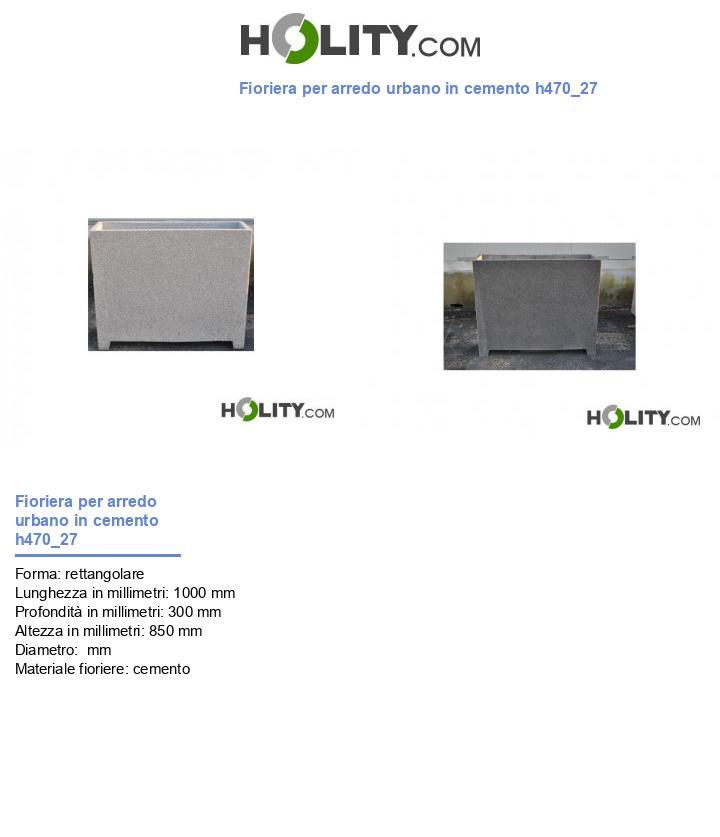 Fioriera per arredo urbano in cemento h470_27