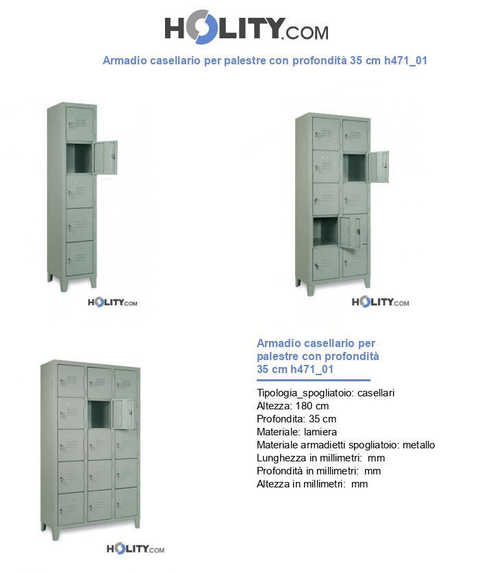 Armadio casellario per palestre con profondità 35 cm h471_01