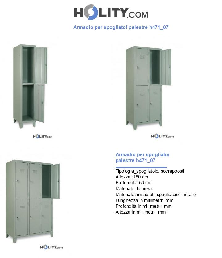 Armadio per spogliatoi palestre h471_07