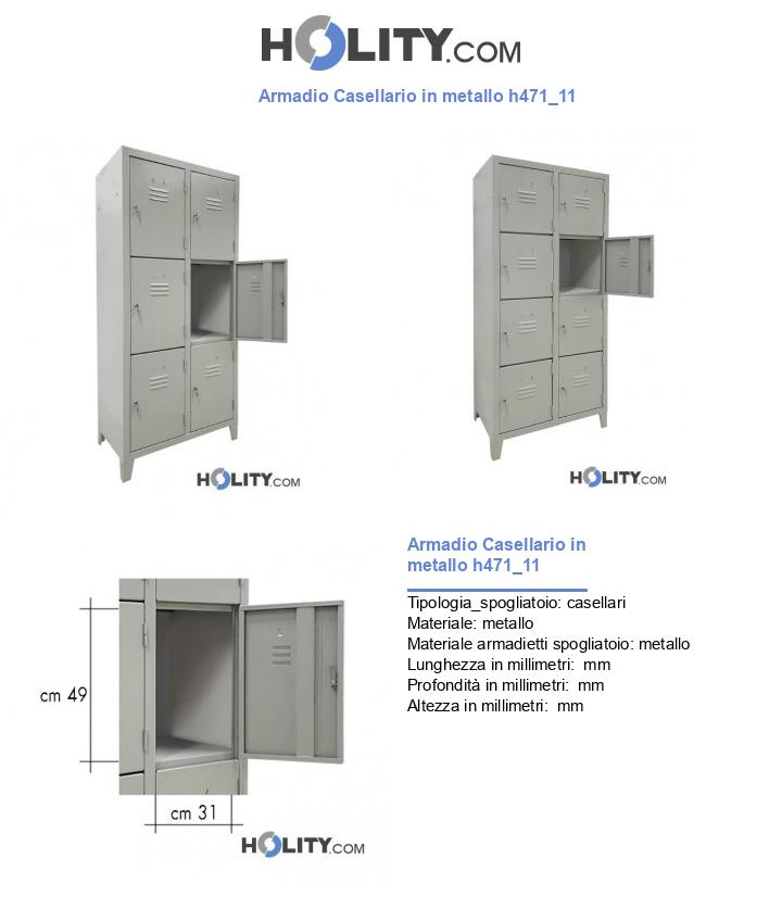 Armadio Casellario in metallo h471_11